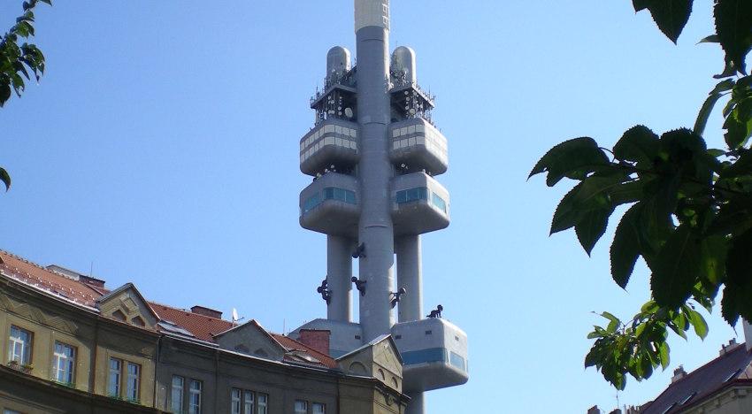La torre di Zizkov, uno dei simboli di Praga