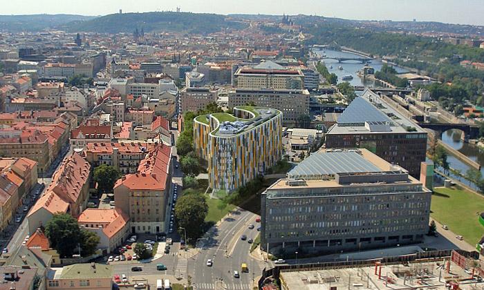 Karlin quartiere emergente a Praga