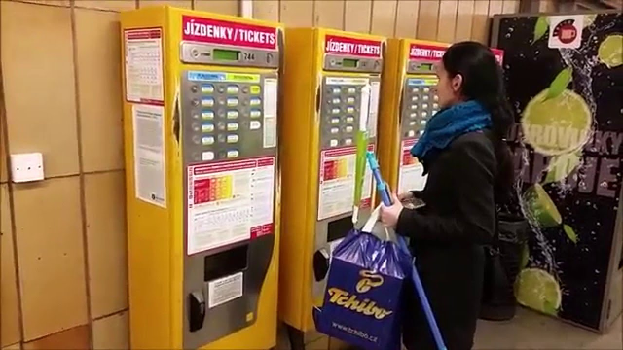 Praha vending tickets