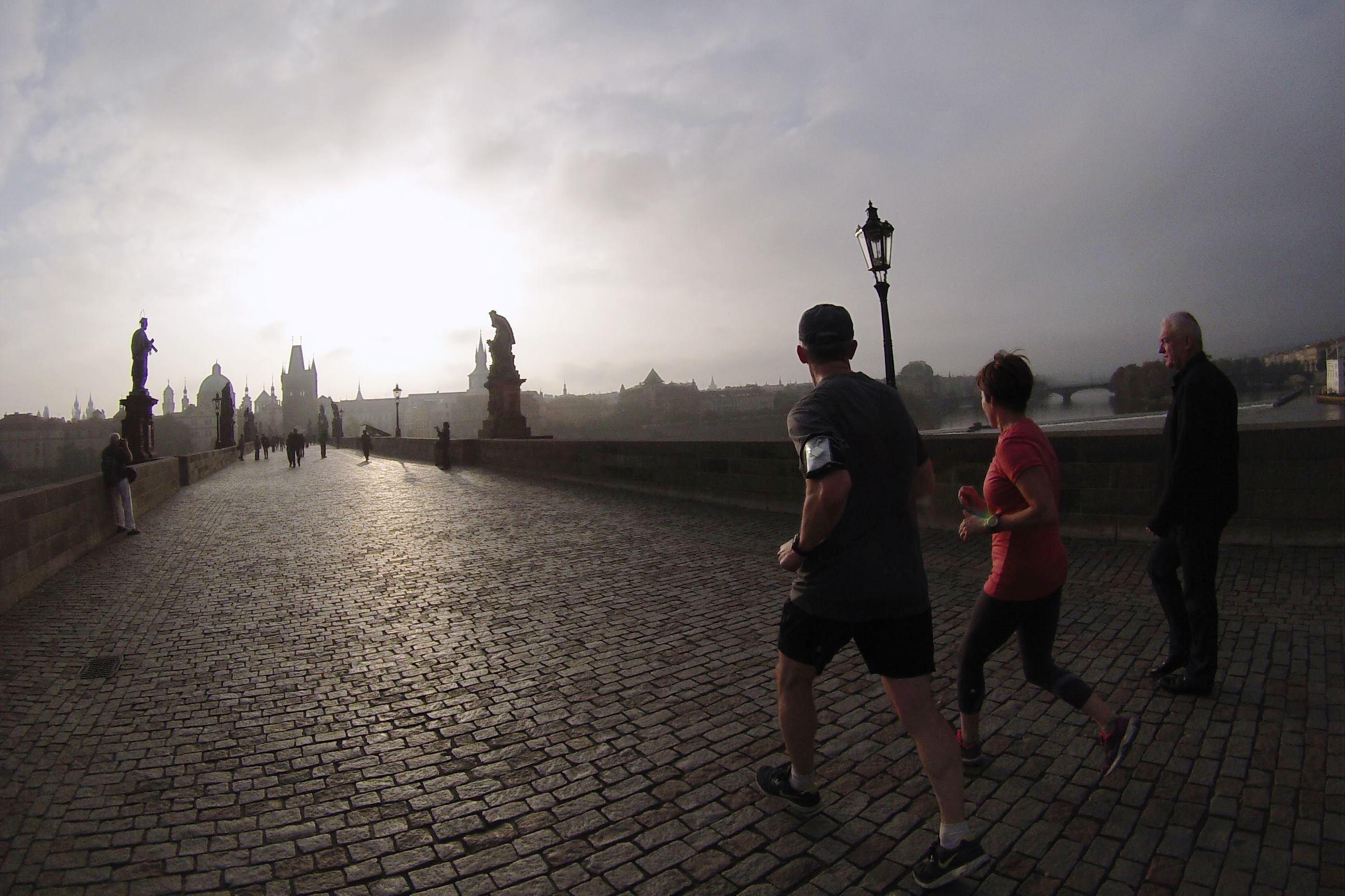 running correre a Praga